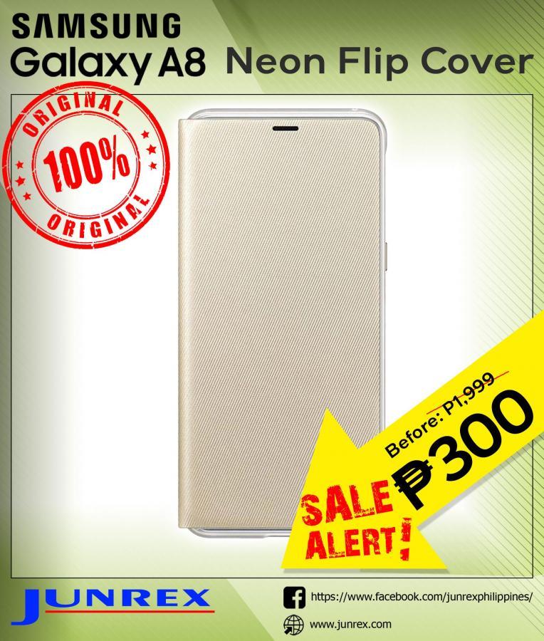 Samsung Galaxy A8 neon flip cover