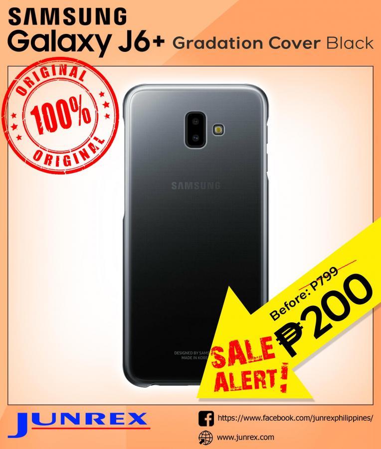 Samsung Galaxy j6+ gradation cover black