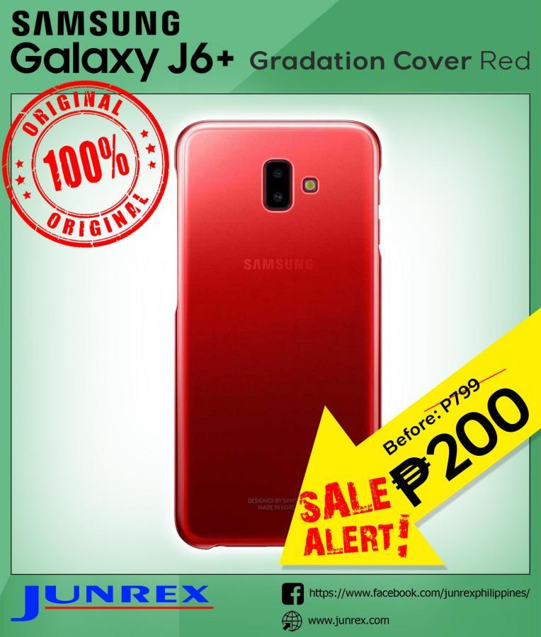 Samsung Galaxy j6+ gradation cover red